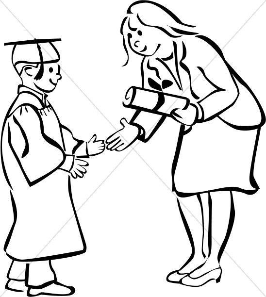 548x612 Collection Of Free Graduation Clipart Drawing Bean Clipart