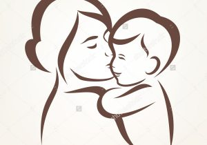 300x210 Huge Collection Of 'mother And Child Drawing' Download More Than