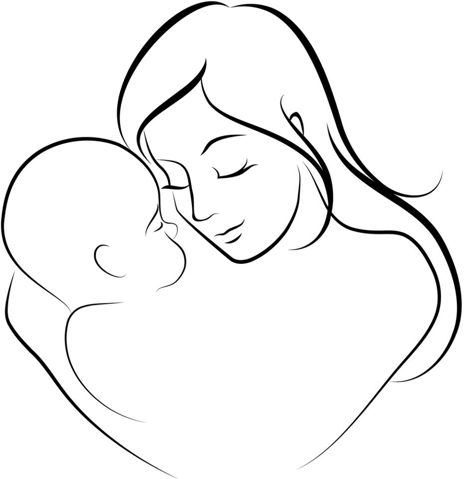 935x960 Welcome Art Line Drawing Mother Child