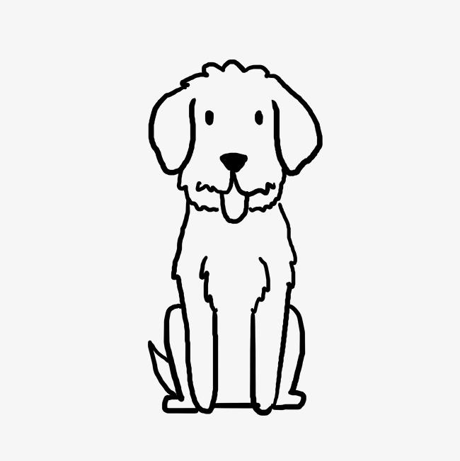 650x651 Cartoon Dog Child Graffiti Line Stick Figure Image