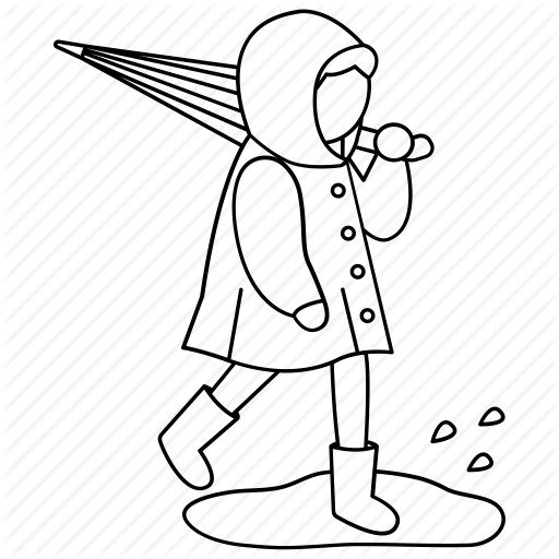 512x512 raincoat drawing line transparent png clipart free download