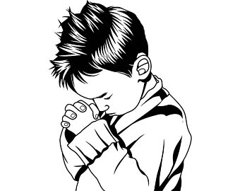 Child Praying Drawing | Free download on ClipArtMag