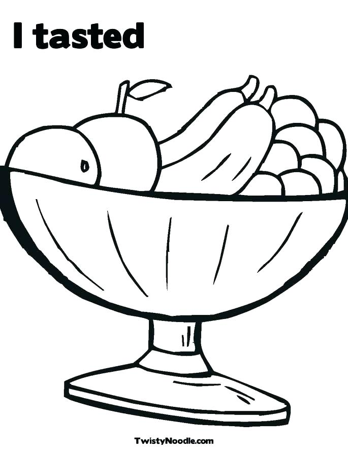685x886 drawing of fruit basket for kids fruit bowl drawing fruit basket
