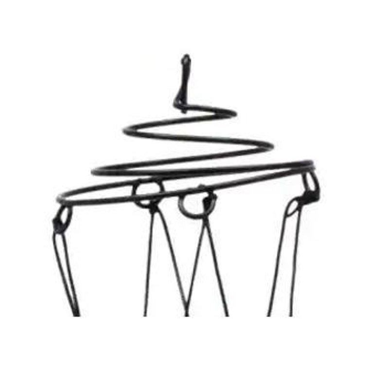 794x794 black white metal spiral cage wind chime hanger metal wind etsy