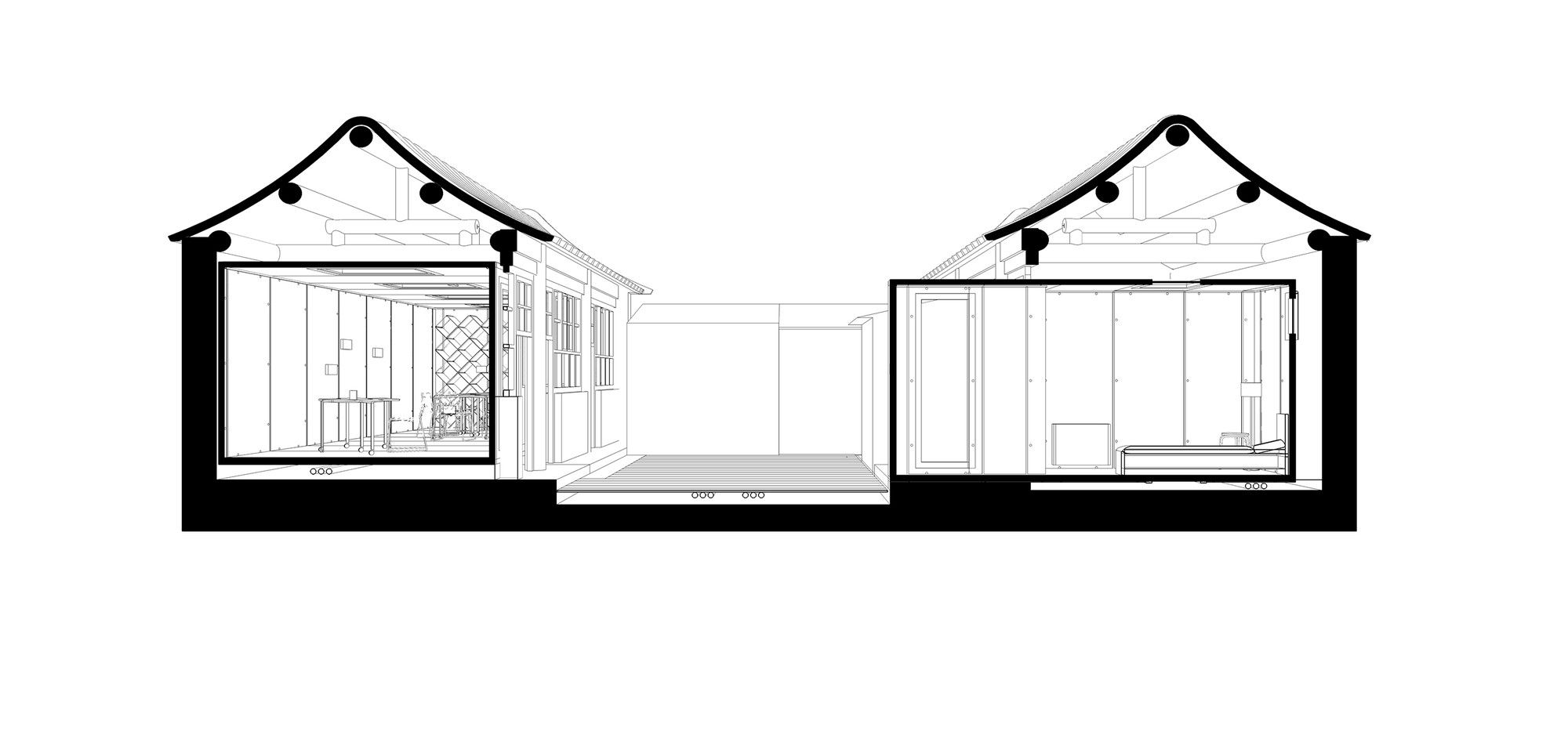 2000x961 Gallery Of The Courtyard House Plugin People's Architecture