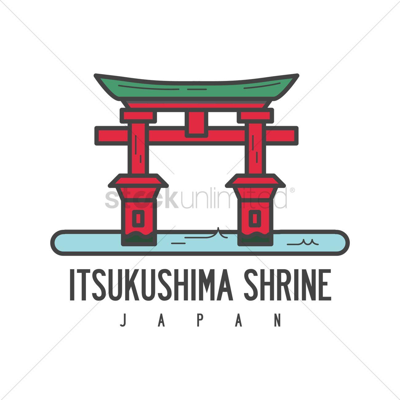 1300x1300 Itsukushima Shrine Vector Image
