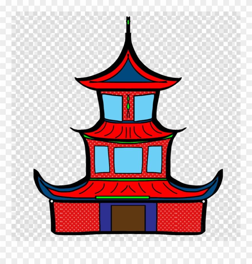 880x920 Klenteng Animasi Clipart Chinese Temple Architecture
