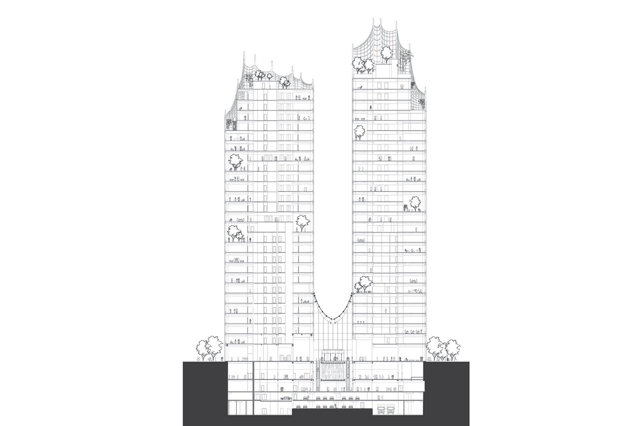 1280x853 Mad Architects' Towers For The Chaoyang Park Plaza Look Like