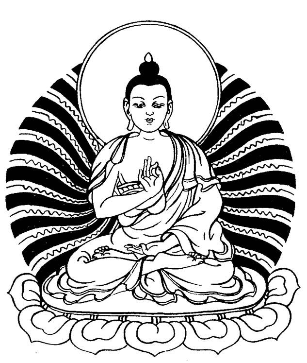 Chinese Buddha Drawing