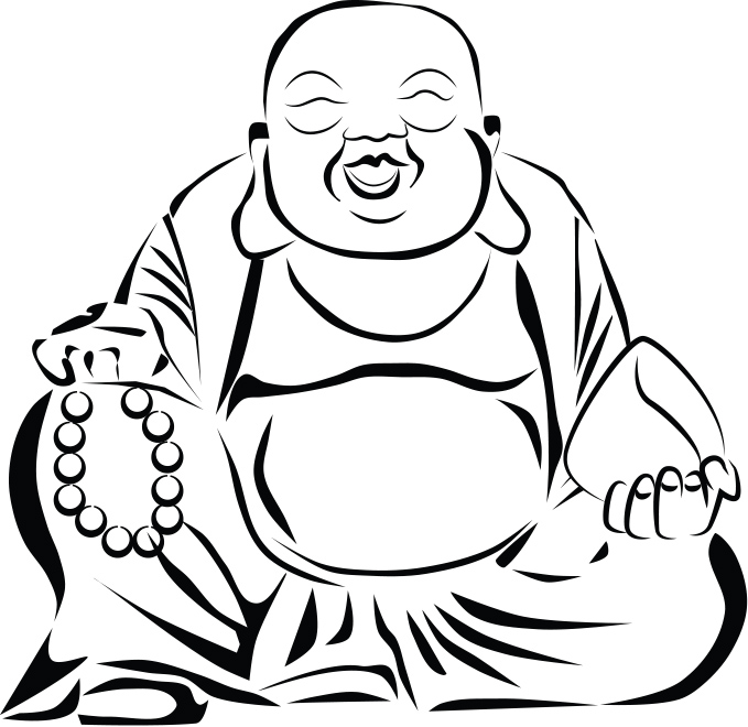 679x660 Chinese Drawing Laughing Buddha For Free Download
