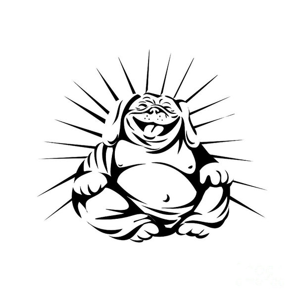 600x600 Laughing Buddha Art Fine Art America