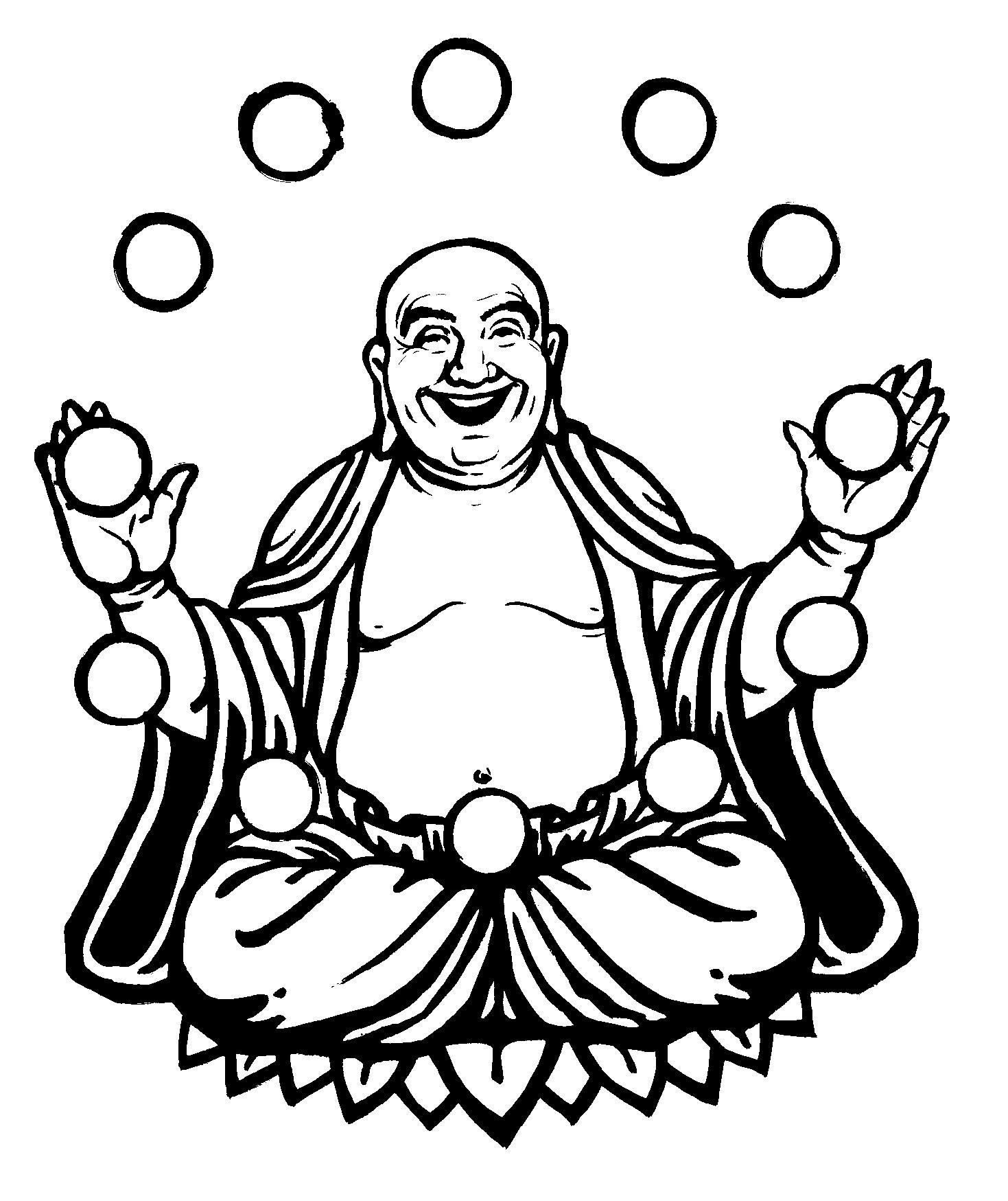 1469x1749 Simple Buddha Drawing