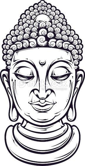 290x561 Vector Art Vector Buddha Drawings Buddha Drawing, Buddha