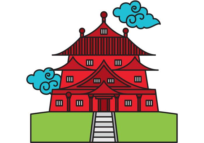 700x490 Chinese Temple Vector