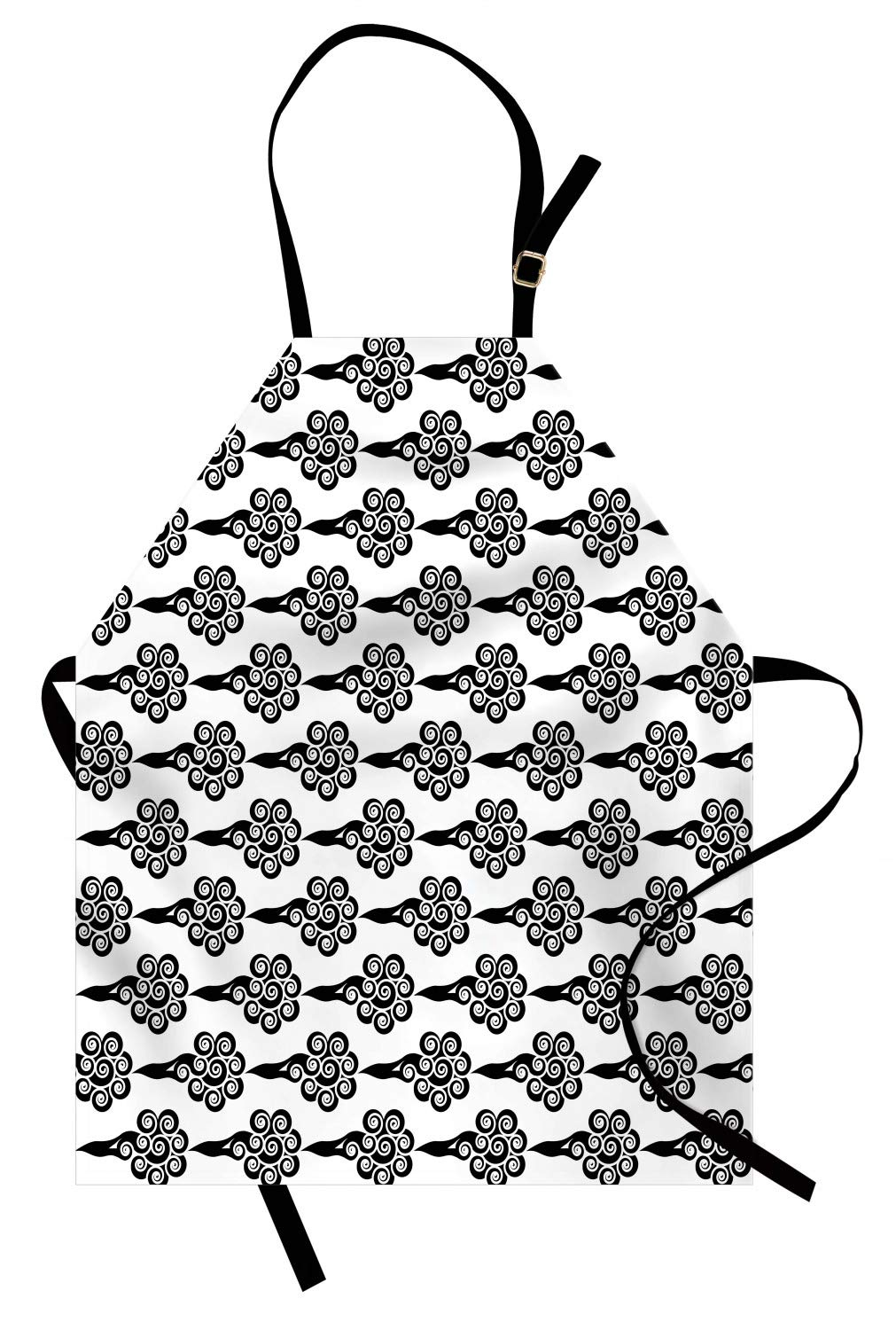 1011x1500 Ambesonne Cloud Apron, Chinese Swirled Clouds