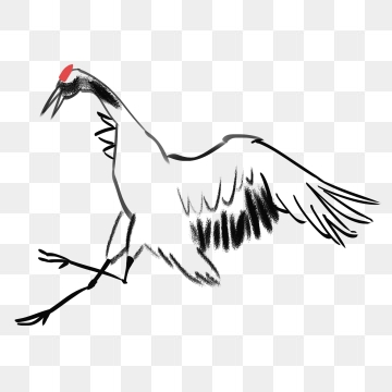 360x360 crane, white crane, birds, chinese style png image and clipart