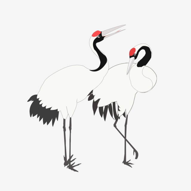 640x640 hand painted crane chinese wind crane red crowned crane commercial