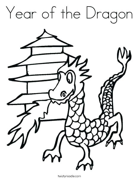 Chinese Dragon Drawing Easy