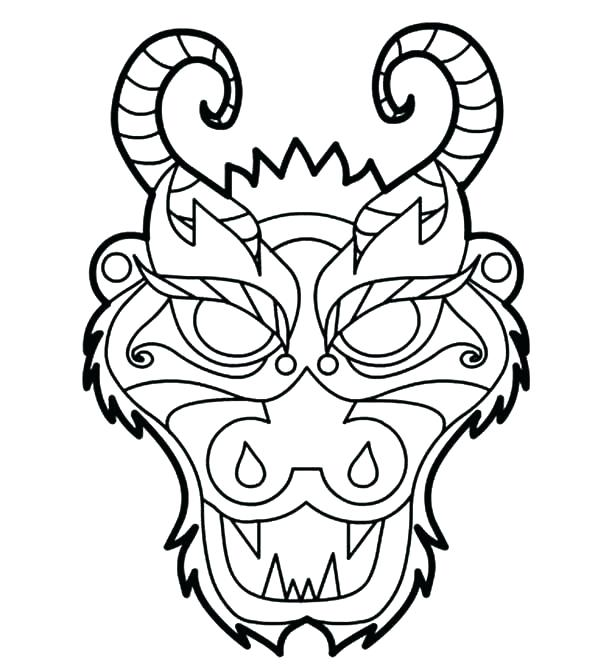 600x671 simple chinese dragon how to draw a dragon head dragon mask