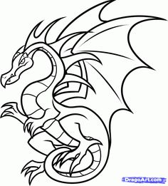236x261 Awesome Dragon Drawing Images Drawings, Dragon Tattoo Designs