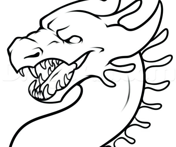 600x500 dragon easy drawing dragon easy drawing at chinese dragon head