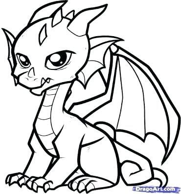 370x397 Dragons That Are Easy To Draw Dragon Easy Drawing Cute