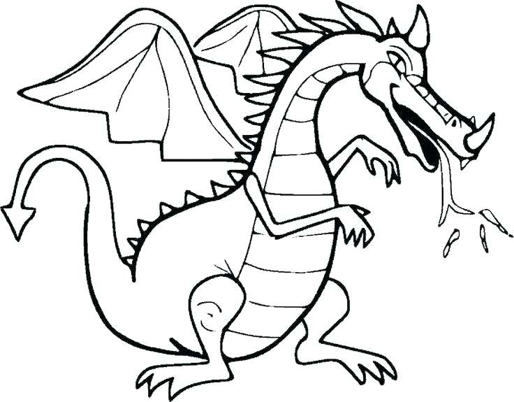 736x575 Drawing Chinese Dragon Coloring Pages For Adults Girls Flowers