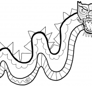 181x170 Free Printable Dragon Coloring Pages For Kids Art
