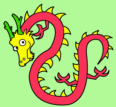 400x369 How To Draw Chinese Dragons With Easy Step