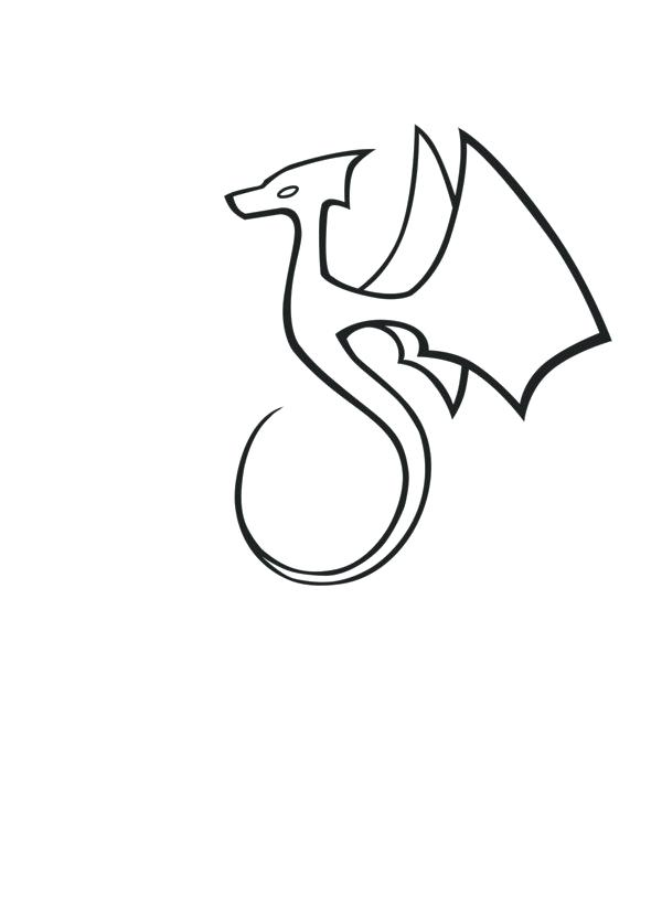 600x834 simple dragon head drawing simple dragon head drawing simple