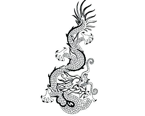 503x402 Chinese Dragon Coloring Book Mask Template Sheet
