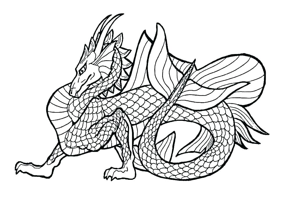 970x692 Chinese Dragon Coloring Pages Dragon Coloring Pages