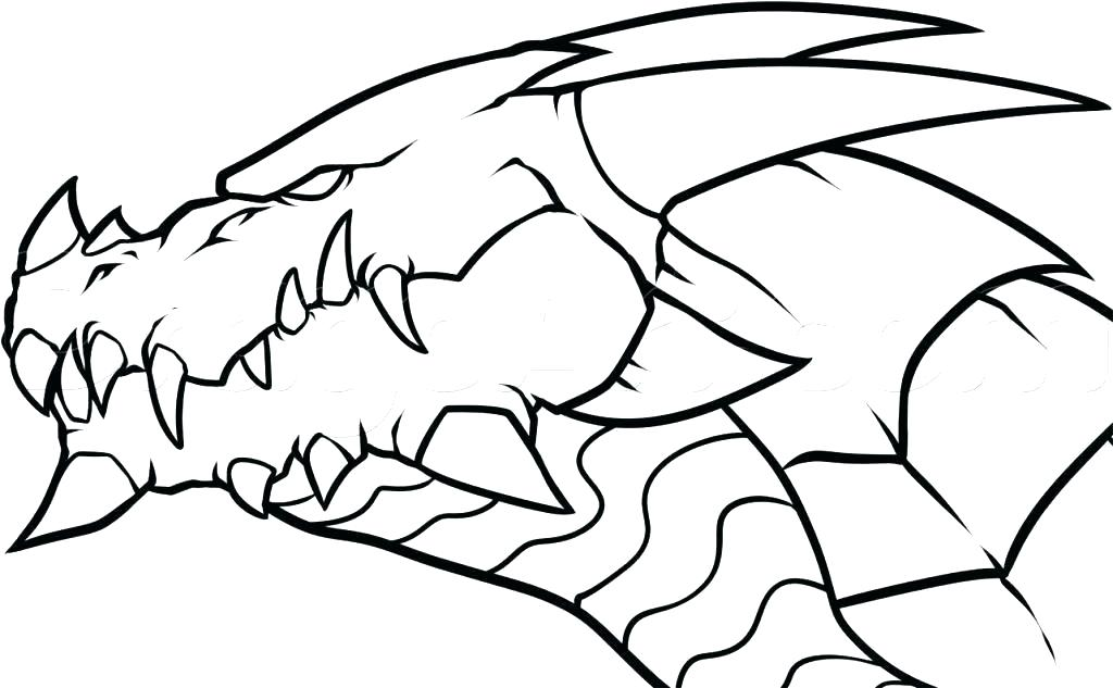 1024x633 Drawing A Dragon Easy Chinese Dragon Drawing Easy Step