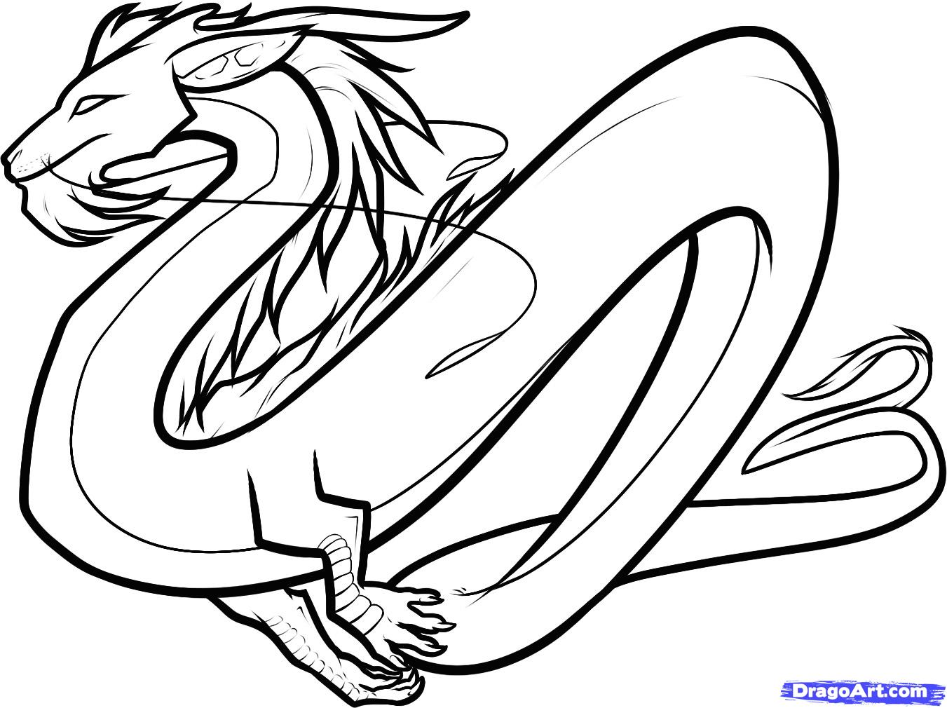 1351x1010 How To Draw A Cool Dragon Easy Step