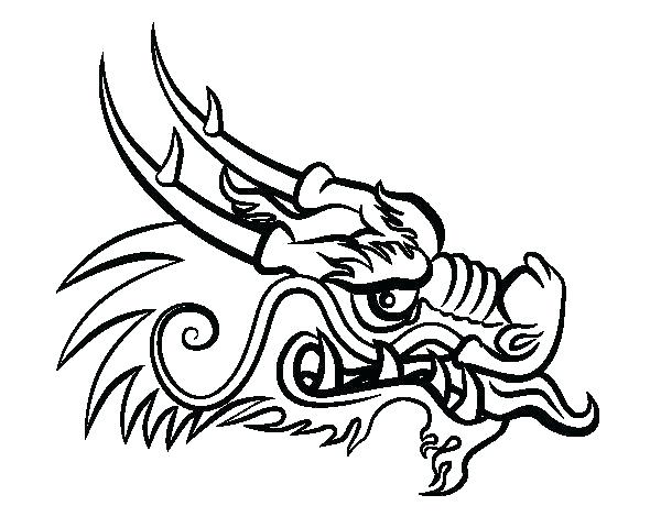 600x470 Huge Collection Of 'chinese Dragon Head Drawing' Download More