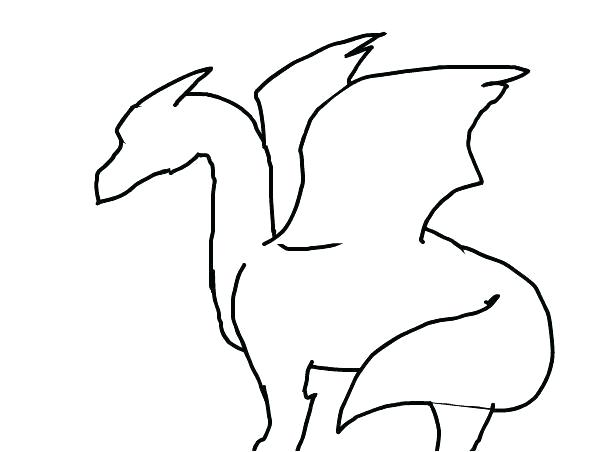 602x452 Simple Dragon Outline Simple Dragon Head Drawing Pix For Simple