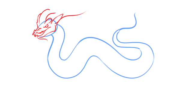 570x320 Simple Drawing Of A Dragon How To Draw A Chinese Dragon Easy, Step
