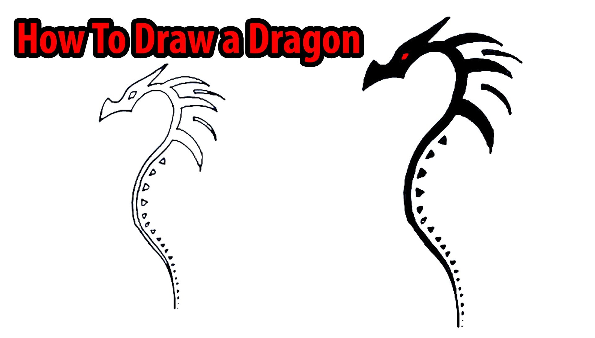 1920x1090 Chinese Dragon Head Drawings Step