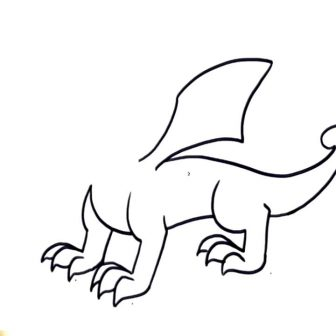 336x336 Dragon Drawing Easy And Cute Toothless Chinese Step