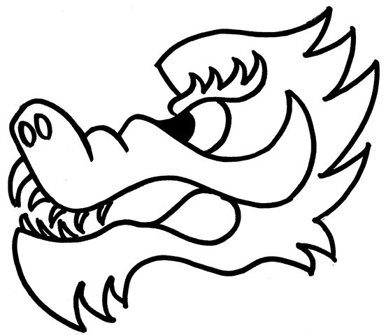 Chinese Dragon Line Drawing