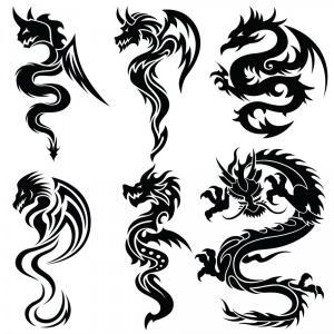 300x300 Png Drawing Chinese Dragon Japanese Dragon Tribal Drag Studiogrfx