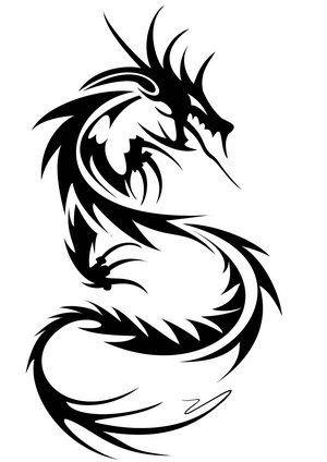 300x424 Tattoos Ideas Tribal Dragon Tattoos