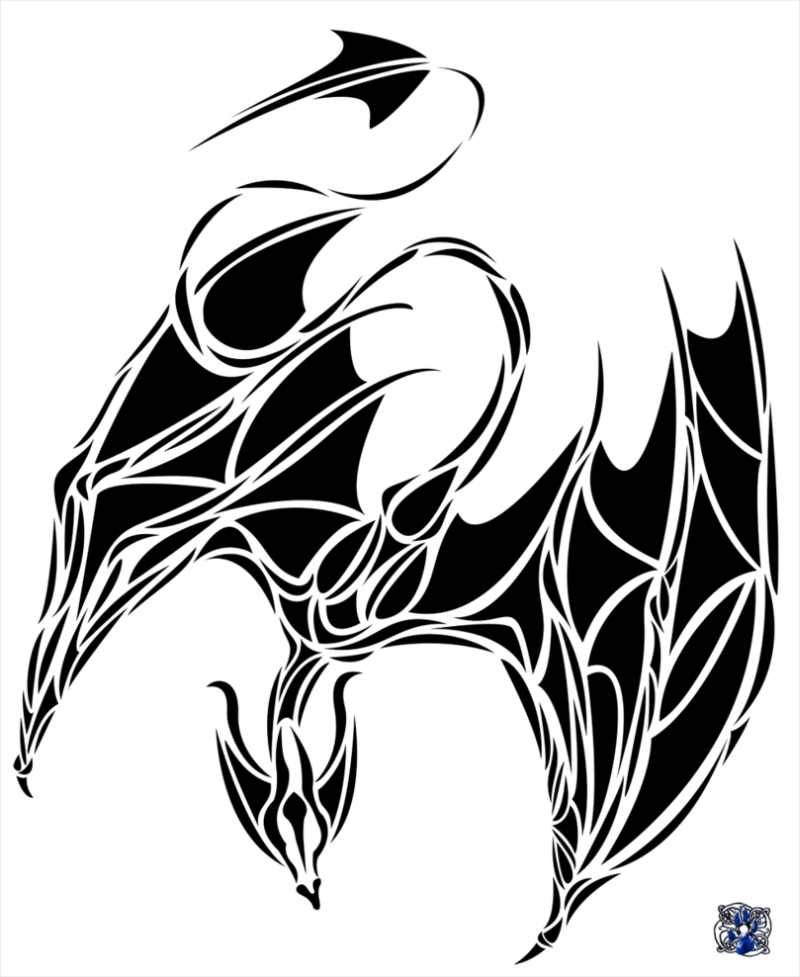 800x977 Tribal Chinese Dragon Tattoo Sample
