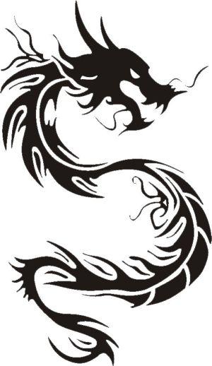 300x518 Kolasune Chinese Dragon Tattoo Drawing