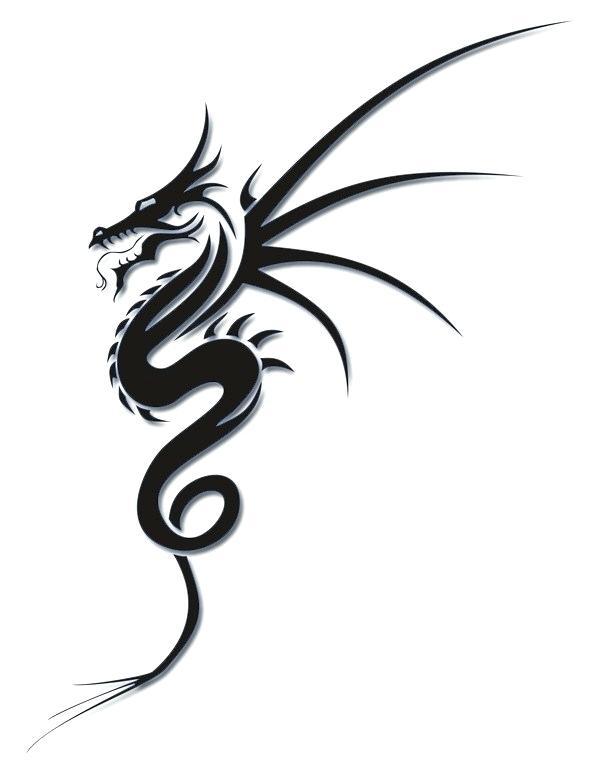 600x784 Simple Dragon Design