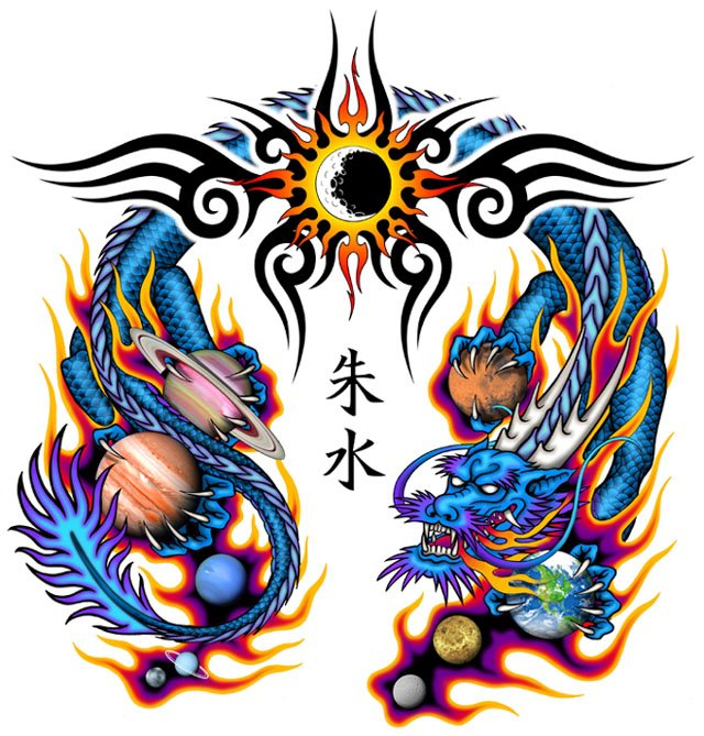 640x669 Awesome Dragon Tattoo Designs For Men