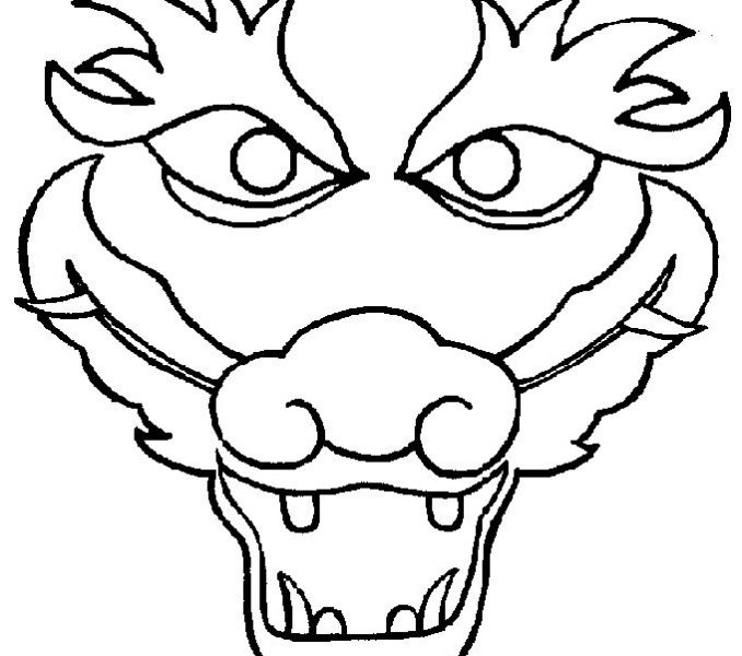 678x600 chinese dragon head pictures to print chinese dragon head drawing