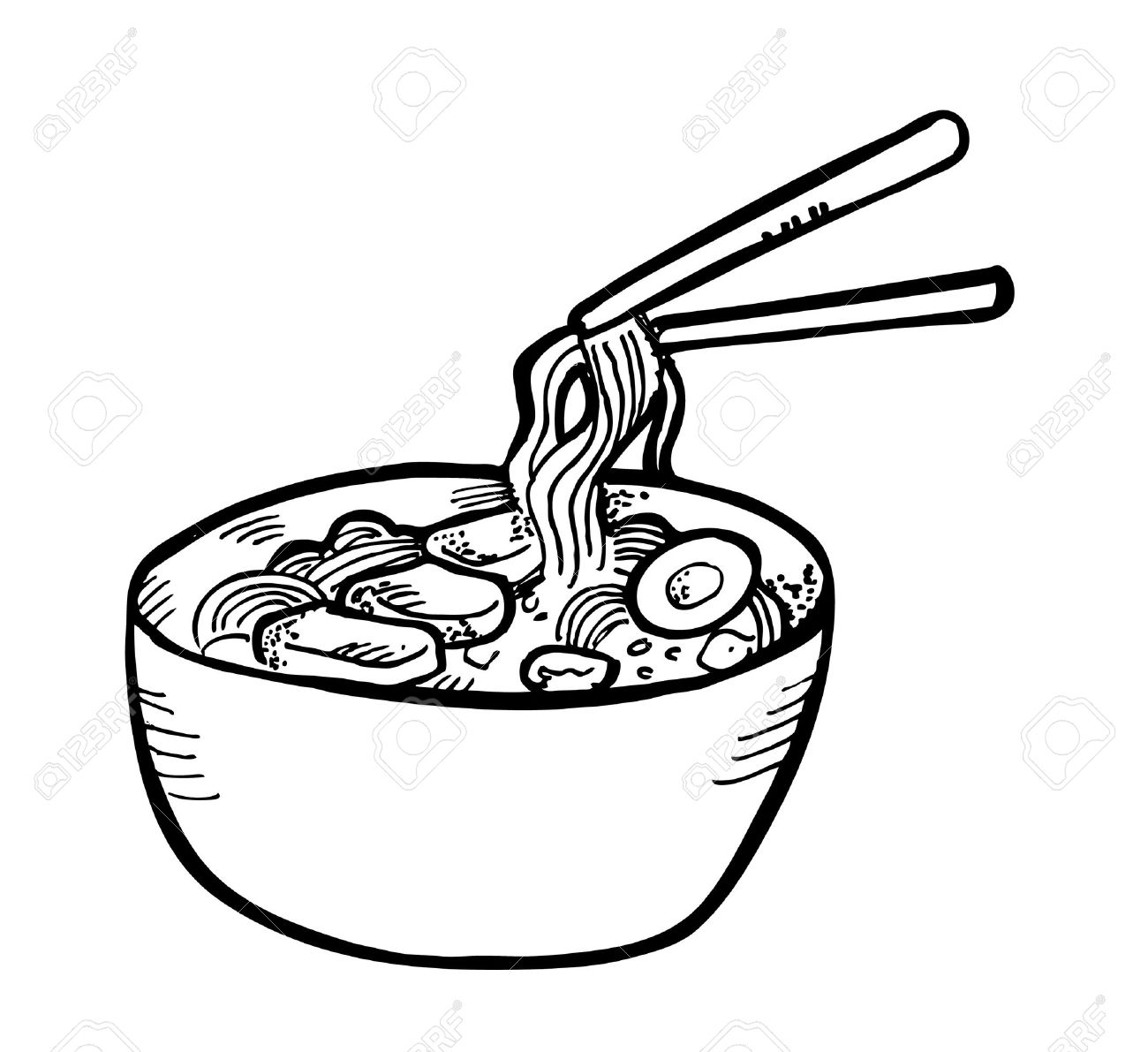 1300x1191 Ramen Drawing Noodle Chinese For Free Download
