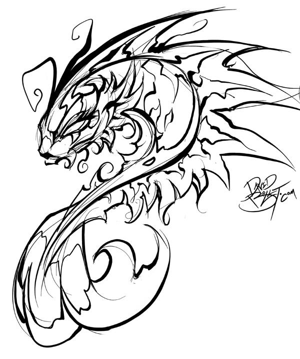 600x716 Drawn Chinese Dragon Fish