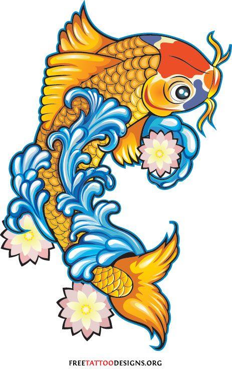 463x740 Koi Fish Tattoos Japanese And Chinese Designs Inspiring